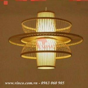Bamboo rattan lamp