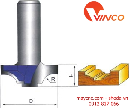 Dao CNC CLASSICAL COVE BIT WITHOUT BEARING