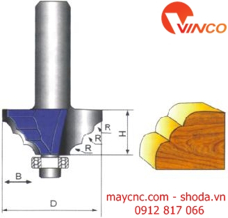Dao CNC CLASSICAL MOULDING BIT-wood