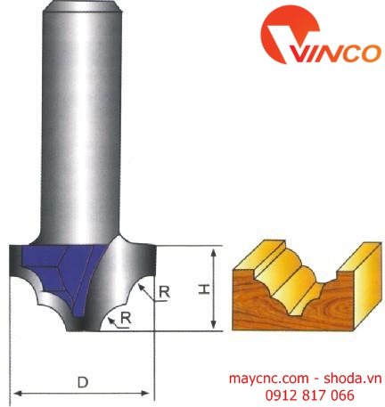Dao CNC CLASSICAL MOUNLDING BIT WITHOUT BEARING
