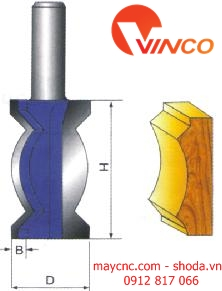 Dao CNC CROWN MOULDING BIT-wood working
