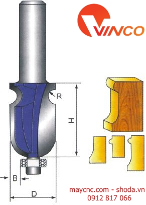 Dao CNC DOUBLE ROUND NOSE BIT