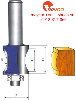 Dao CNC FINGER NAIL TYPE BIT