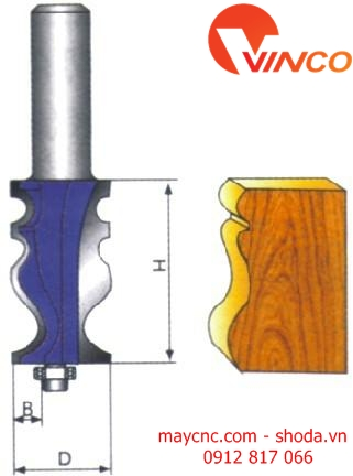 Dao CNC HANDRAIL BIT-wood