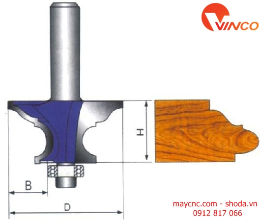 Dao CNC HANDRAIL BIT-wood working