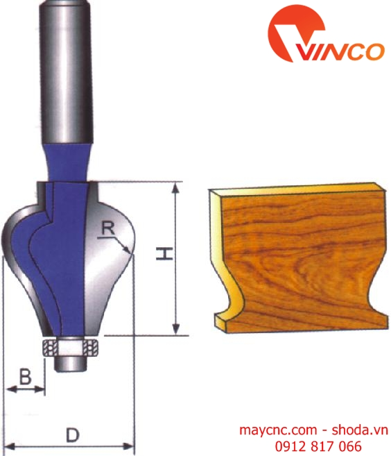 Dao CNC HANDRAIL BIT-wood working bits
