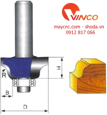 Dao CNC RPMAN OGEE BIT WITH BEARING