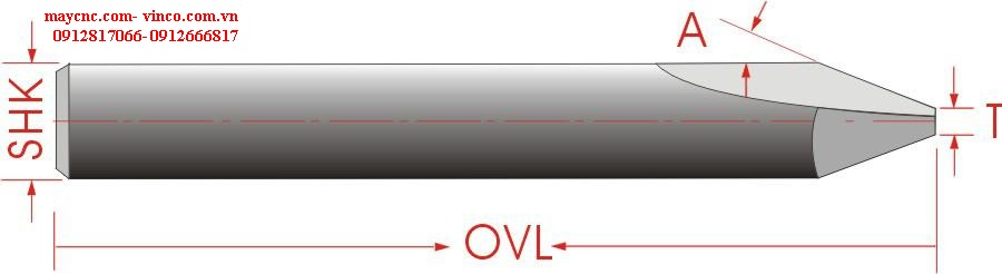 DOUBLE STRAIGHT FLUTES ENGRAVING BITS