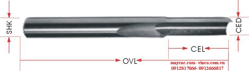 ONE STRAIGHT FLUTE BITS
