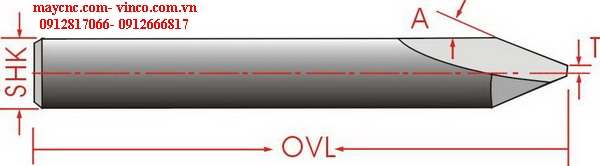 ONE STRAIGHT FLUTE ENGRAVING BITS