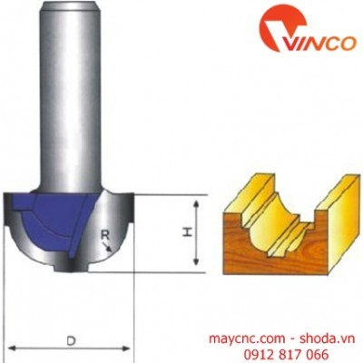 Dao CNC  FLAT OGEE BIT WITHOUT BEARING